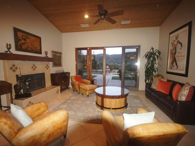 Photo for Majestic Mountain Vineyards Estate, Pool,  Spa, Tennis Court, Outdoor Fireplace