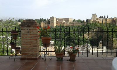 Photo for The Great View House. Large veranda terrace with unbeatable views in front of the Alhambra