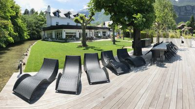 Photo for Exclusive Waterfront Villa 15p, Lake Annecy