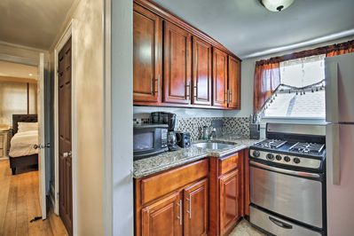 Make your favorite meals in the fully equipped kitchen!