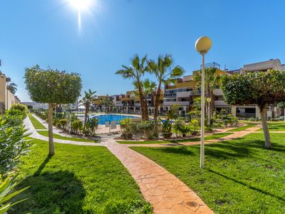 Photo for 2 bed apartment in the beautiful complex El Bosque, Playa Flamenca