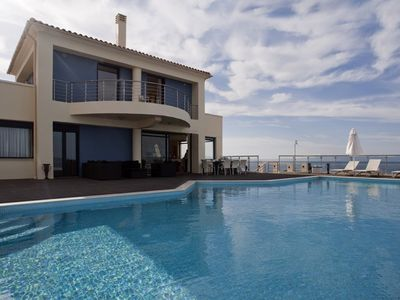 Photo for Luxury seafront villa with spectacular sea & sunset views,Sauna,Gym,Cinema,WiFi