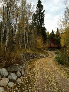 A grand entrance to the cabin during another spectacular fall season