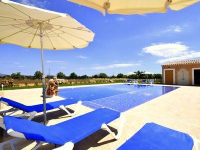 Photo for As new and air-conditioned finca Es Cos Campos with 13 meters pool !!