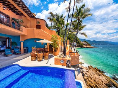Photo for ROMANTIC VILLA W SUNSETS PRIVATE POOL BEACH ACESS & STAFF