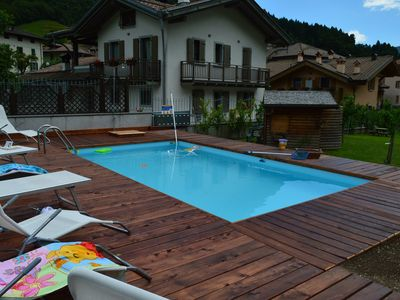 Photo for Holiday apartment with private garden and pool.