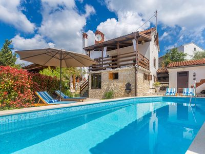Photo for Rustic elegant holiday house - terrace with outdoor pool and jacuzzi, playground for children, garden
