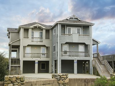 Photo for Dune Ridge: Oceanfront, 6 bedroom duplex, private hot tub, community oceanfront pool.