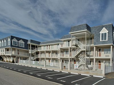 Photo for Nicely appointed one bedroom air conditioned Merrimack Condominium offering beachblock location