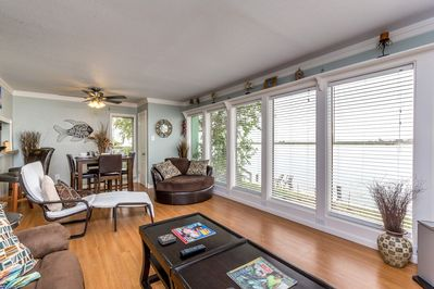 Living Area - Welcome to Corpus Christi! This condo is professionally managed by TurnKey Vacation Rentals.
