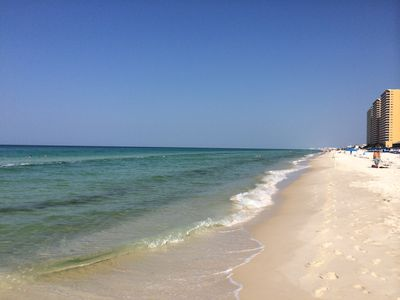 Best beach in Florida! White sand and clear blue water.
