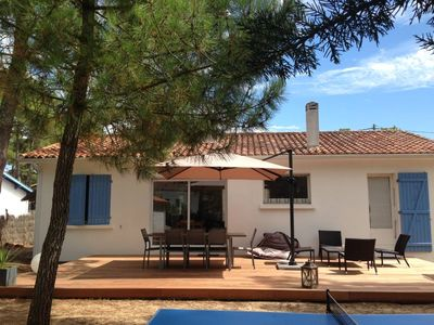 Photo for House / Villa under pine trees - 150m from a sandy beach -