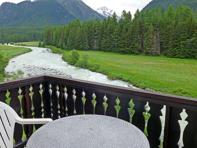 Photo for Apartment in the center of Pontresina with Parking, Internet, Washing machine, Balcony (61343)