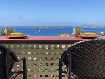 Enjoy Breakfast out on Bliss's new deck and deck bar.  Great view to wake up to!