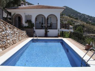 Photo for Beautiful villa with heated pool and stunning views