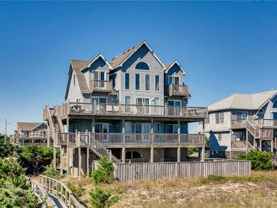 Photo for Wide Open Views! Oceanfront w/ Pool & Bar, Hot Tub, Game Rm, Walkway to Beach