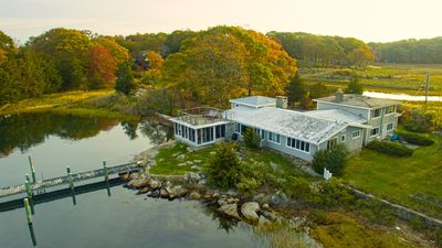 Aerial view from Mystic River
