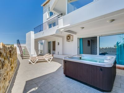 Photo for Modern Villa With Spectacular Sea and Beach Views, Outdoor Shower and Jacuzzi