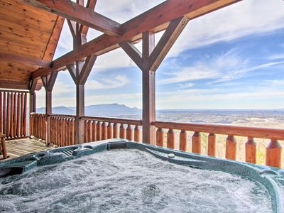 Photo for NEW-Chic Cabin w/ Fantastic Sunset Views+Deck