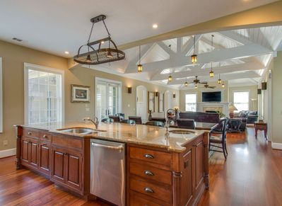 Kitchen Opens to Large Living Room at 7 Armada
