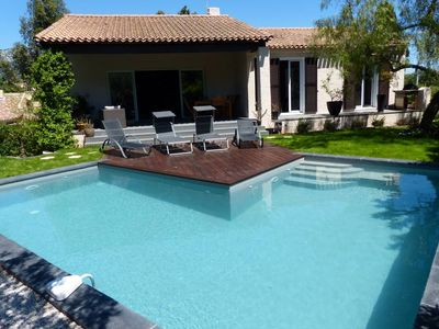 Photo for Beautiful house, 170 m² with pool, outdoor games ideal 2 families
