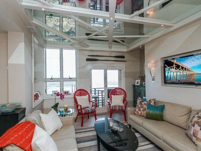 Photo for Fourth Floor Penthouse villa w/ ocean views—steps from the beach and near park!