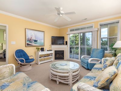 Photo for Beautiful Bay Views! Upscale Condo w/ Wi-Fi, Pools, Gym & Private Beach
