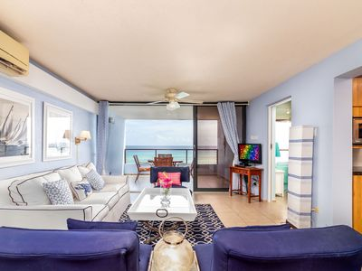 Photo for ONE LOVE - Charming 2 bed Ocean Front Beach Condo in St Lawrence Gap with pool