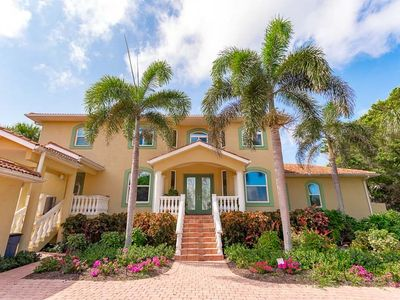 Spacious 2 Story Gulf Front Home with Balconies & Heated Pool