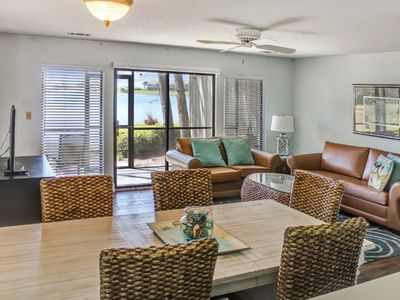 Check out the screened  patio and balcony and Lake View for your private enjoyment.