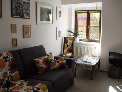 Photo for Cosy 35m² for 1-2 Pers., Herb garden, Saale bike path, Leuchtenburg