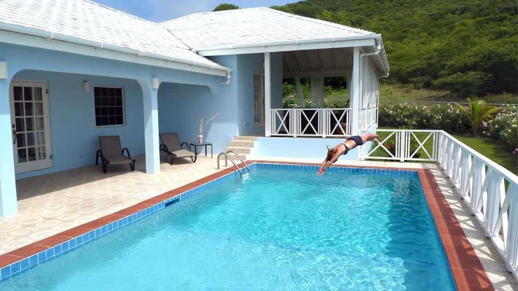 3 Bedroom Villas With Private Pools Near Jolly Harbour Ffryes House