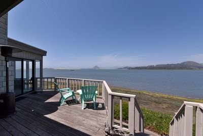 This bayfront home has stunning views of the bay and Morro Rock