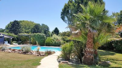 Photo for 2-star apartment in a villa: pool, close to beaches, Biarritz, and golf courses
