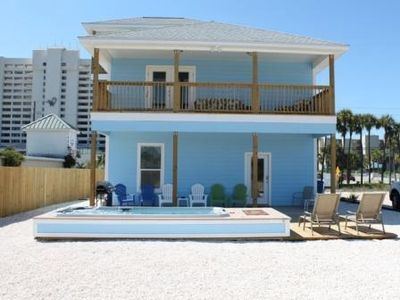 BACK OF HOUSE WITH PRIVATE HEATED POOL
