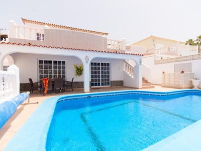 Photo for Beautiful Spacious 3 Bedroom Villa. Private Heated Pool. Sea Views. Sleeps 8.