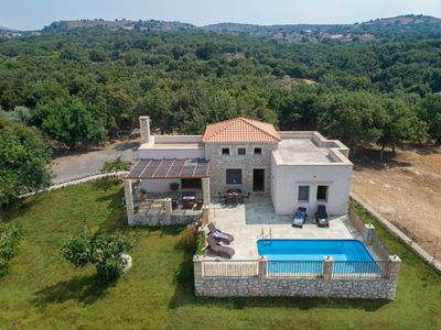 Photo for This 3-bedroom villa for up to 6 guests is located in Atsipopoulo and has a private swimming pool, a