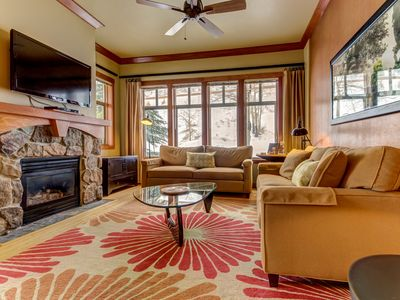 Photo for Ski-in/ski-out from this condo near the lifts - plus pool, hot tub, & sauna