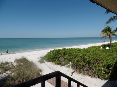 Gulf of Mexico steps from Sea Splendor and the clear blue water's.