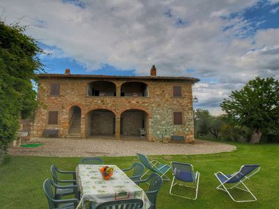 Photo for House with huge garden and spacious loggia on estate with olive trees and castle