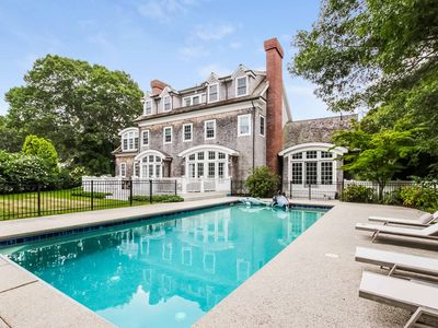 Photo for Cape Cod Luxuriously Styled Home with heated pool.