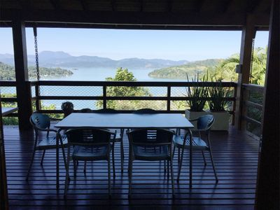 Photo for House on hill with beautiful view of Paraty Bay
