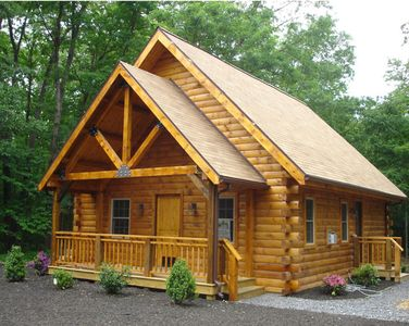 Photo for Spruce Run Hideaway, Log Cabin Alone On 245 Acres Of Forest, Lewisburg Pa