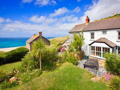 Photo for Petra, Cornish Cottage With lovely Garden, Wow Sea Views, By the Beach
