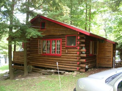 Photo for Enjoy a charming 1939 Log Cabin on gorgeous Lake George  .