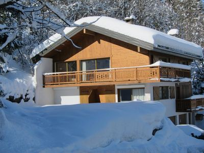 Photo for Charming apartment in chalet, 85 m², splendid view, sheets provided