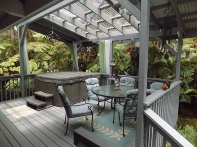 Photo for Hot tub, Wood Stove, Sleep Number Bed Amid Tree Ferns Near Hawaii Volcanoes Park