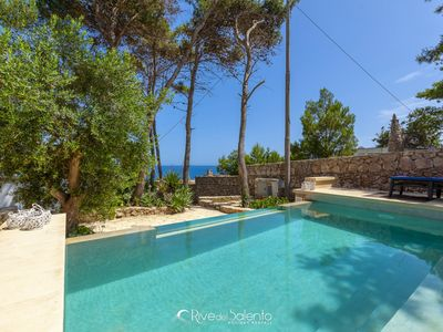 Photo for Typical seafront villa with pool and garden in Castro Salento
