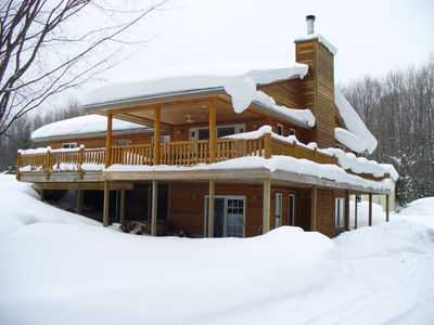 Photo for Snowmobilers! Large family home.Two fireplaces!