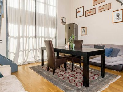 Photo for Spacious Industrial Certosa apartment in Porta Garibaldi with WiFi, air conditioning & lift.